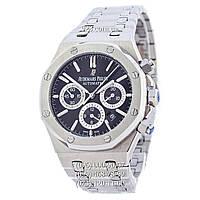 Элитные мужские часы Audemars Piguet Royal Oak Automatic Silver/Black (механические)