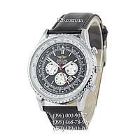 Классические мужские часы Breitling Chronometre Navitimer Black/Silver/White - Black (кварцевые)