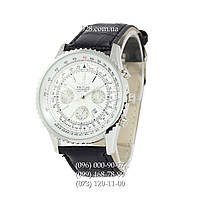 Классические мужские часы Breitling Chronometre Navitimer Black/Silver/White (кварцевые)