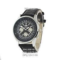 Классические мужские часы Breitling Chronometre Navitimer Black/Silver/Black (кварцевые)