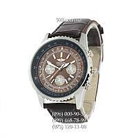 Классические мужские часы Breitling Chronometre Navitimer Brown/Silver/Black - Brown (кварцевые)
