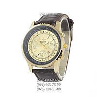 Классические мужские часы Breitling Chronometre Navitimer Brown/Gold/Black - Gold (кварцевые)