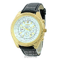 Классические мужские часы Breitling Navitimer B48 Quartz Black-Gold-White (кварцевые)