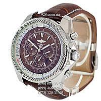 Элитные мужские часы Breitling for Bentley Automatic Brown/Silver/Brown (механические)