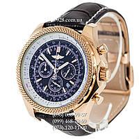 Элитные мужские часы Breitling for Bentley Black/Gold/Black (механические)