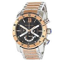 Часы мужские Bvlgari SD38S L2161 Chronograph Silver-Gold/Black (кварцевые)