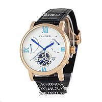 Элитные мужские часы Cartier Ronde Solo De Cartier Black/Gold/White (механические)