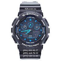 Спортивные мужские часы Casio G-Shock GA-100-1A2ER AAA (кварцевые)