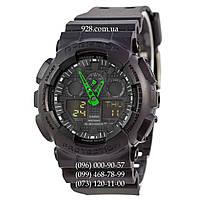 Спортивные мужские часы Casio G-Shock AAA GA-100 Black-Red Narrows (кварцевые)