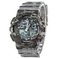 Спортивные мужские часы Casio G-Shock AAA GA-100 Military-Grey (кварцевые)