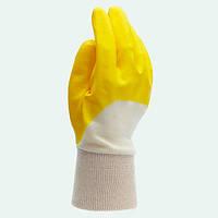 Перчатки нитриловые, с неполным обливом (желтые) Долони , 4523, фото 1