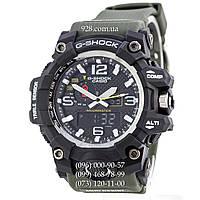 Спортивные мужские часы Casio G-Shock GWG-1000 Black-Military Wristband (кварцевые)