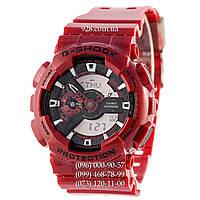 Спортивные мужские часы Casio G-Shock GA 110 Red-Black (кварцевые)