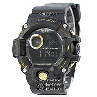 Спортивные мужские часы Casio G-Shock GW-9400 Black-Gold New (кварцевые)