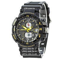 Спортивные мужские часы Casio G-Shock 1100SH Black-Yellow (кварцевые)