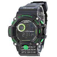 Спортивные мужские часы Casio G-Shock GW-9400 Black-Green (кварцевые)