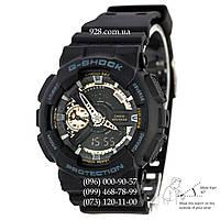 Спортивные мужские часы Casio G-Shock AAA GA-110RG-1AER Black-Gold Autolight (кварцевые)