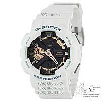 Спортивные мужские часы Casio G-Shock AAA GA-110RG-7AER White-Сuprum Autolight (кварцевые)