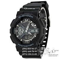 Спортивные мужские часы Casio G-Shock AAA GA-110-1BER Black-Silver Autolight (кварцевые)