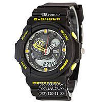 Спортивные мужские часы Casio G-Shock GA 300 Black-Yellow (кварцевые)