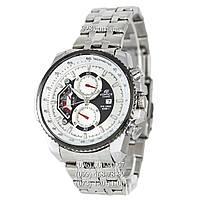 Спортивные мужские часы Casio Edifice 8218 Silver-White (кварцевые)