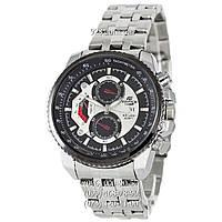 Спортивные мужские часы Casio Edifice 8218 Silver-Black (кварцевые)
