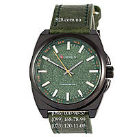 Классические мужские часы Curren Classico 8168 Black/Green (кварцевые)