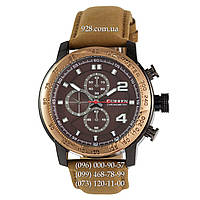 Классические мужские часы Curren Chronometr 8190 Gold/Brown (кварцевые)