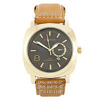 Классические мужские часы Curren 8139 Gold-Black-Brown (кварцевые)