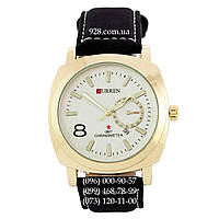Классические мужские часы Curren Gold-White-Black (кварцевые)