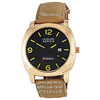 Классические мужские часы Curren 8158 Gold-Black Copy (кварцевые)