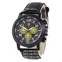 Классические мужские часы Ferrari 3367 Black/Black-Yelloy (кварцевые)