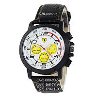 Классические мужские часы Ferrari 3367 Black/White-Yelloy (кварцевые)