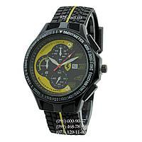 Классические мужские часы Ferrari 2742 Inter Corsa Black-Yellow (кварцевые)