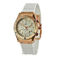 Классические женские часы Hublot Tutti Frutti Gold-White (кварцевые)