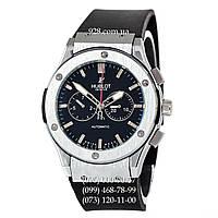 Классические мужские часы Hublot Classic Fusion Automatic Black/Silver/Black (механические)