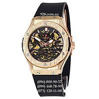 Классические мужские часы Hublot Classic Fusion Tourbillon Skeleton Black/Gold/Black (механические)
