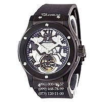 Часы мужские Hublot Classic Fusion Tourbillon Black Skull Black/Black/White (механические)
