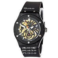Классические мужские часы Hublot Classic Fusion Tourbillon Skeleton All Black (механические)