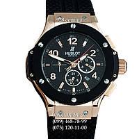 Классические мужские часы Hublot Big Bang Classic Skeleton Back Black/Gold (механические)