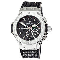 Классические мужские часы Hublot Big Bang Classic Skeleton Back Black/Silver (механические)