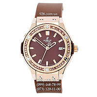 Часы женские Hublot Classic Fusion Date Women Brown/Gold/Brown (кварцевые)