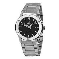 Часы мужские Hublot Classic Fusion Date Steel Silver/Black (механические)