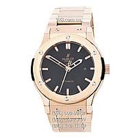 Часы мужские Hublot Classic Fusion Date Steel Gold/Black (механические)