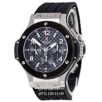 Часы мужские Hublot Big Bang Automatic Chronograph Black/Silver-Black/Black-Red (механические)