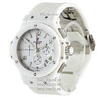 Часы мужские Hublot Big Bang White Ceramic All White (кварцевые)
