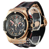 Часы мужские Hublot King Power F1 Great Britain Black-Red/Gold (кварцевые)