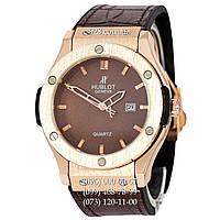 Классические мужские часы Hublot Classic Fusion Man Brown-Gold-Brown (кварцевые)