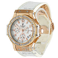 Часы мужские Hublot Big Bang Tutti Frutti Leather White/Gold/White (кварцевые)