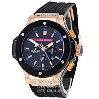Мужские часы Hublot Big Bang Luna Rossa Automatic Black/Gold/Black (механические)